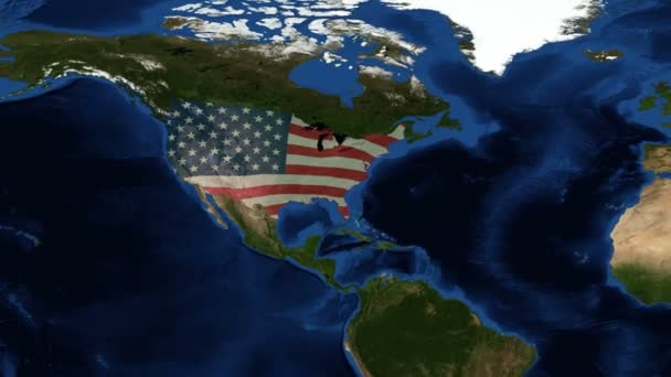 United States of America from space