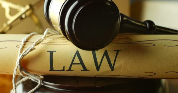 Law justice litigation concept with gavel and hammer