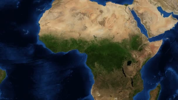 4k West Africa from space - slow zoom