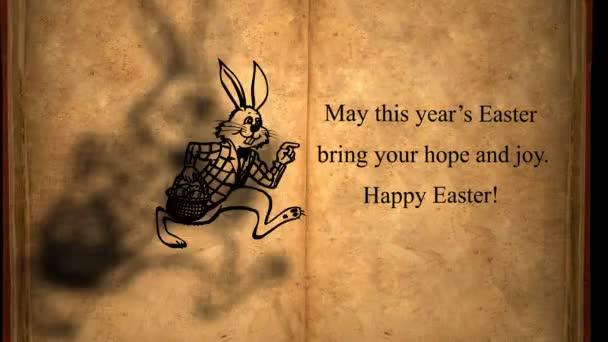 Happy Easter animáció húsvéti nyuszi ikonok