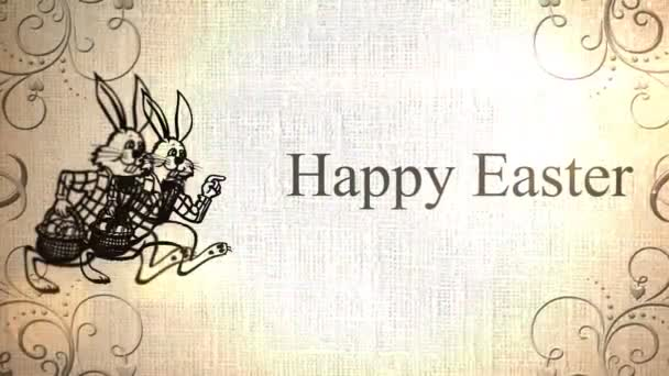 Happy Easter Animation with Easter Bunny Icons