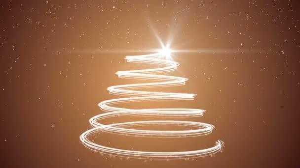 Gold Christmas tree animation background
