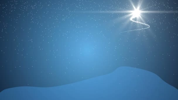christmas tree animation blue background