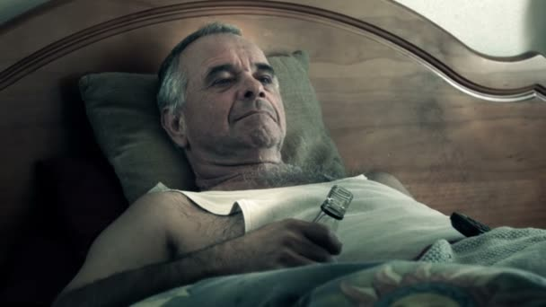 Alcoholic Adult in Bed Drunk Suffering Drug Effects of Alcoholism