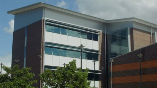 Building establishing shot modern architecture office business exterior