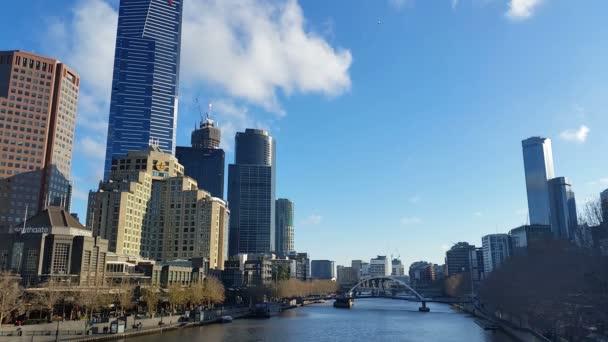 Město Melbourne v Austrálii