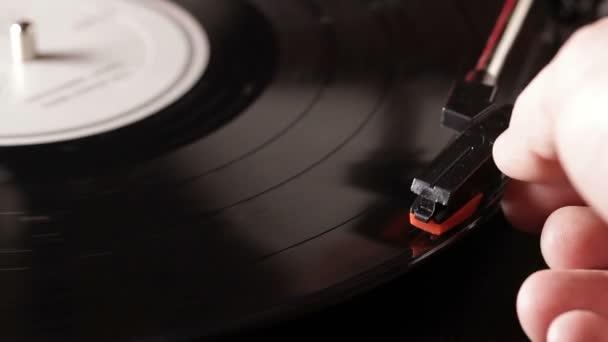 Plattenspieler Retro Plattenspieler, der Vinyl Vintage Platten abspielt