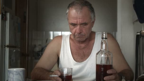 Alcoholic Man Suffering Drug Effects of Alcoholism and Depression