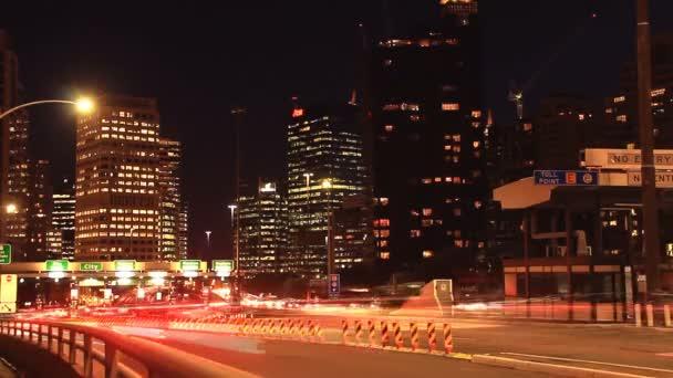 Car Traffic in City at Night