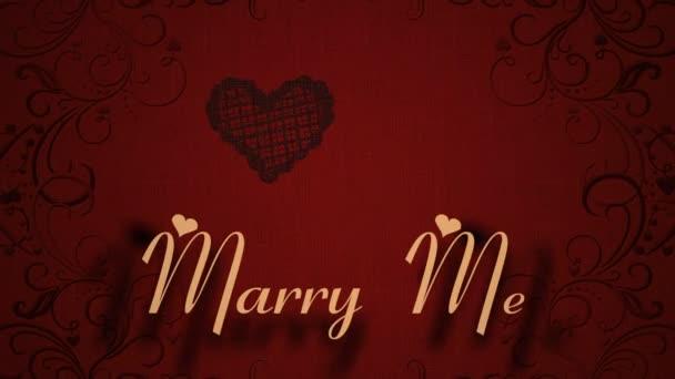 Valentinstag romantische Liebe Symbol Animation