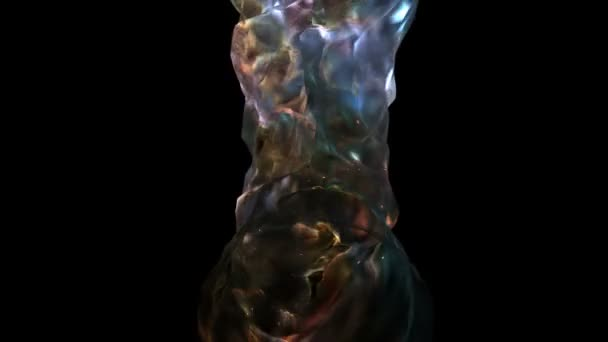 Velikost prostoru vesmíru kosmu Spacetime nebo červí Darkmatter animace