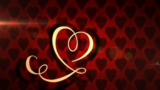 Valentýnská animovaná ikona lásky