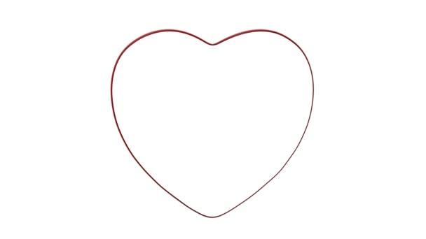 Love heart melting on white background