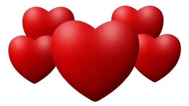 Láska srdce bušilo bití na bílém pozadí