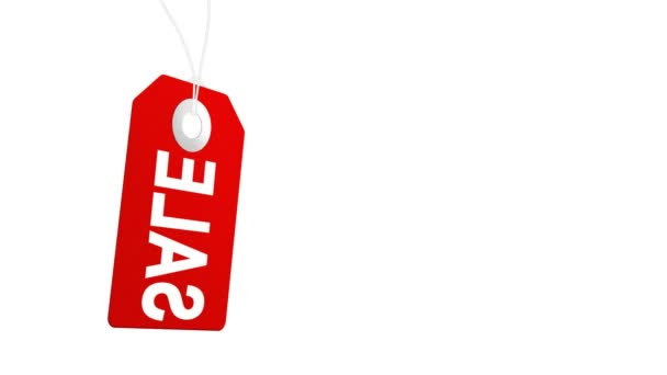 Big sale animation with red tags for shopping sales and promotions