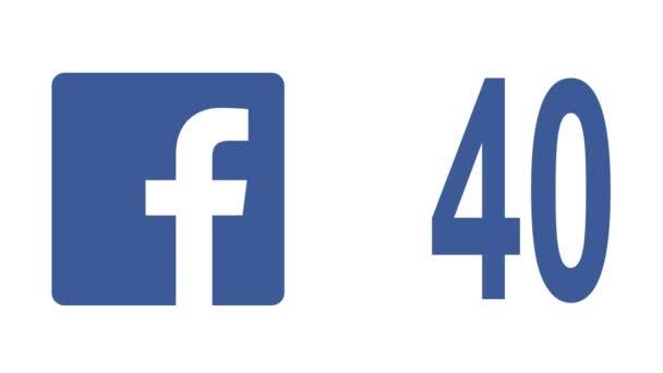 Facebook social media Royalty Free Stock Footage