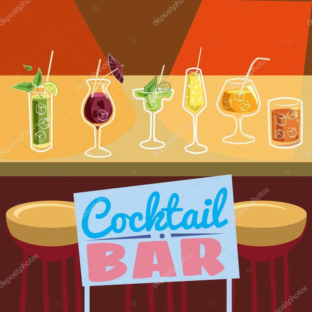 Cocktail bar invitation flyer cartoon style banner vector cocktail bar invitation flyer cartoon style banner vector illustration vetor de valerihadeev stopboris Images