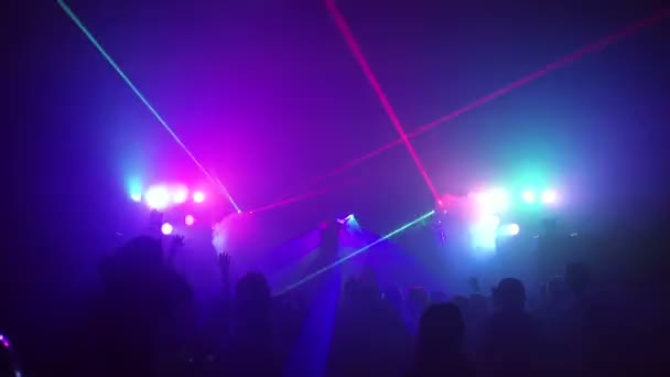 Young people dancing in night club. slow motion