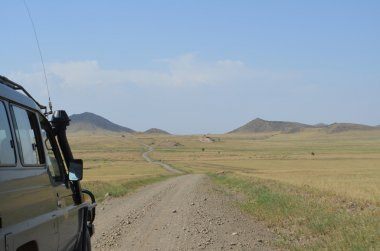 The road from lake manyara  to lake natron  on the slopes of holy  montain of  Ol Doinyo Lengai in tanzania.