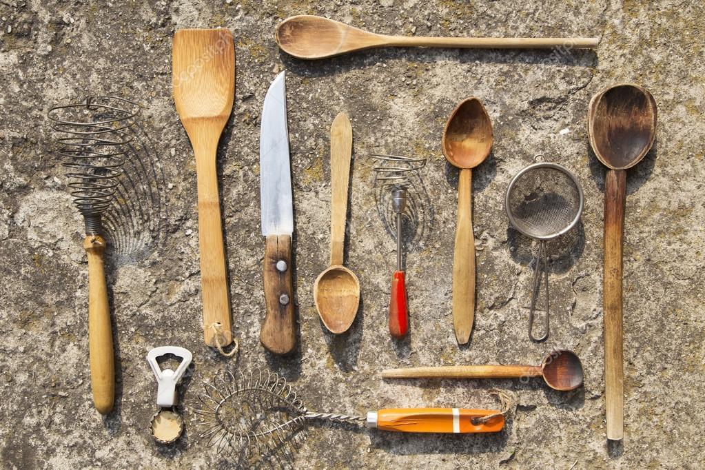 utensilios de cocina Vintage — Foto de stock © TeodoraD #86919780
