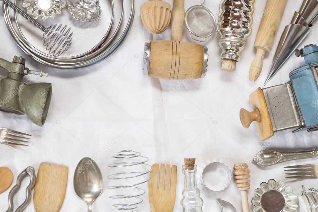 utensilios de cocina Vintage — Foto de stock © TeodoraD #87265818
