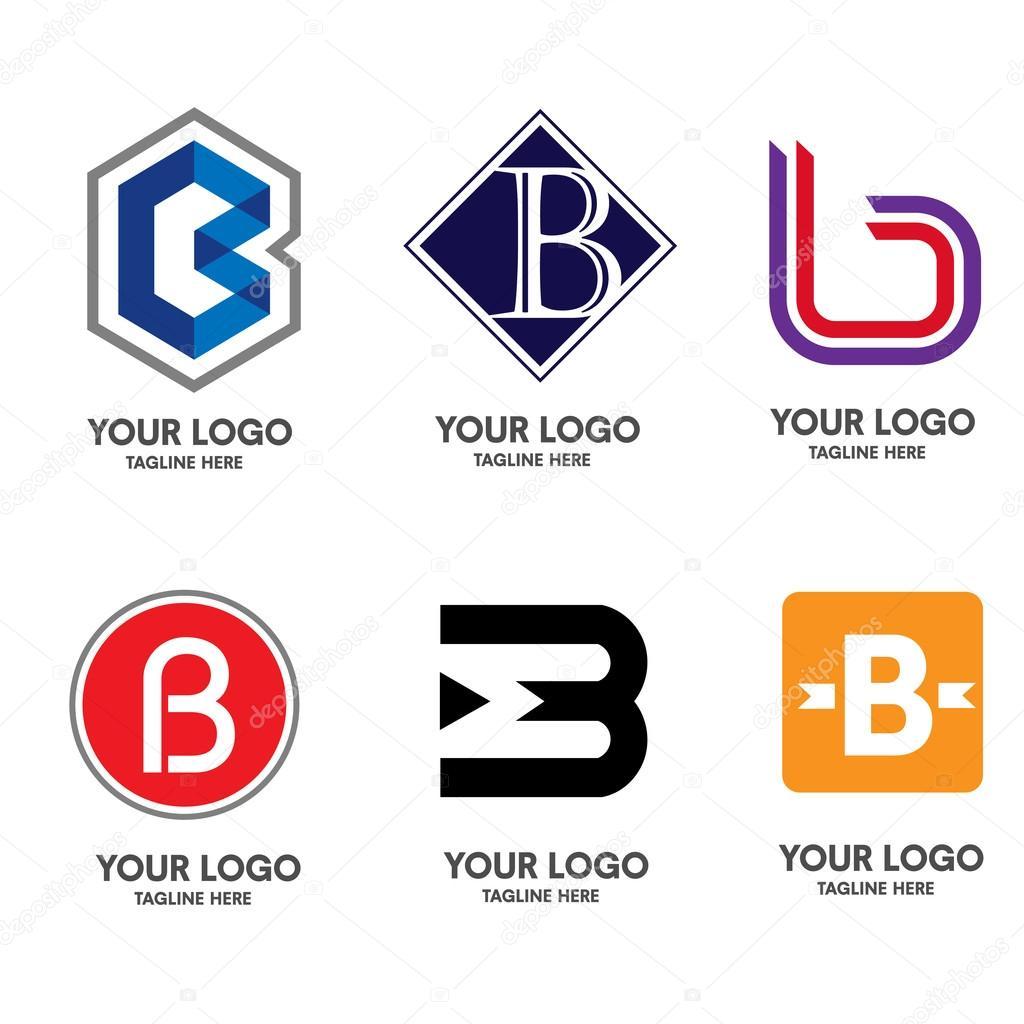 Letter b logo set vector stock vector krustovin 100516864 for Logo b b