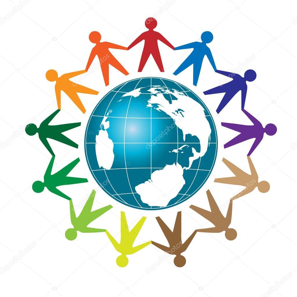 People unity logo vector — Stock Vector © krustovin #101080162