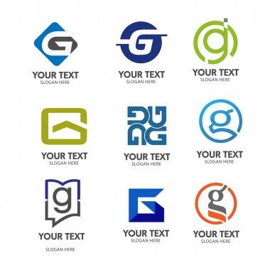 elegant letter G logo vector