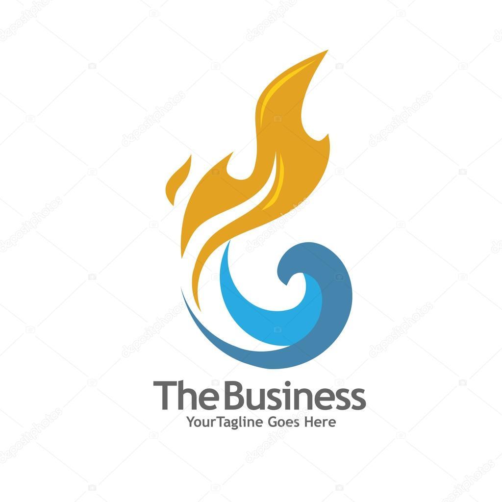 oil gas energy and fire concept logo � stock vector