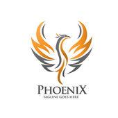 luxusní phoenix logo koncepci