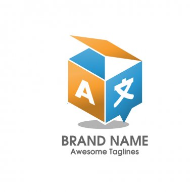 creative translation 3D box agency  logo style