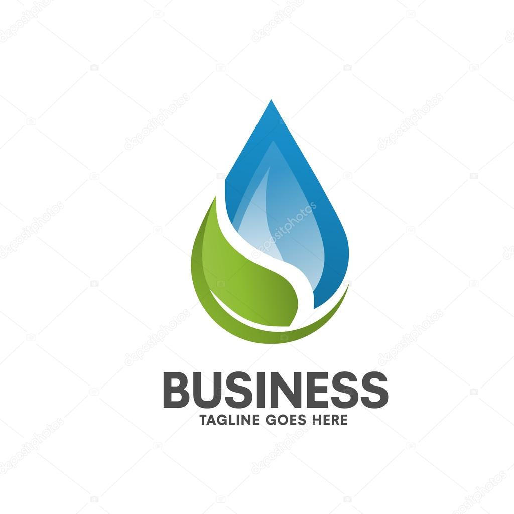 pure Healthy water leaf logo
