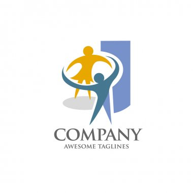 Happy People logo,dancing, playing, school