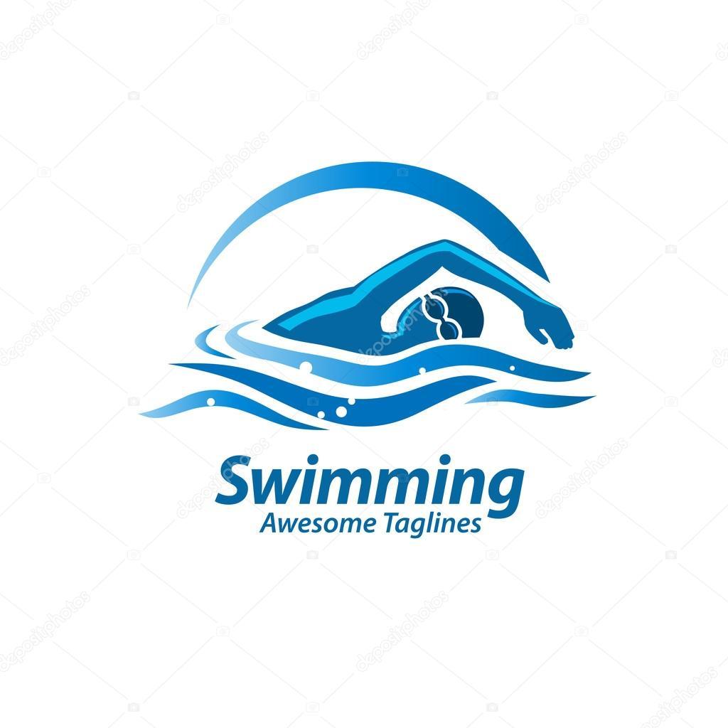 swimming logo vector � stock vector 169 krustovin 107643334