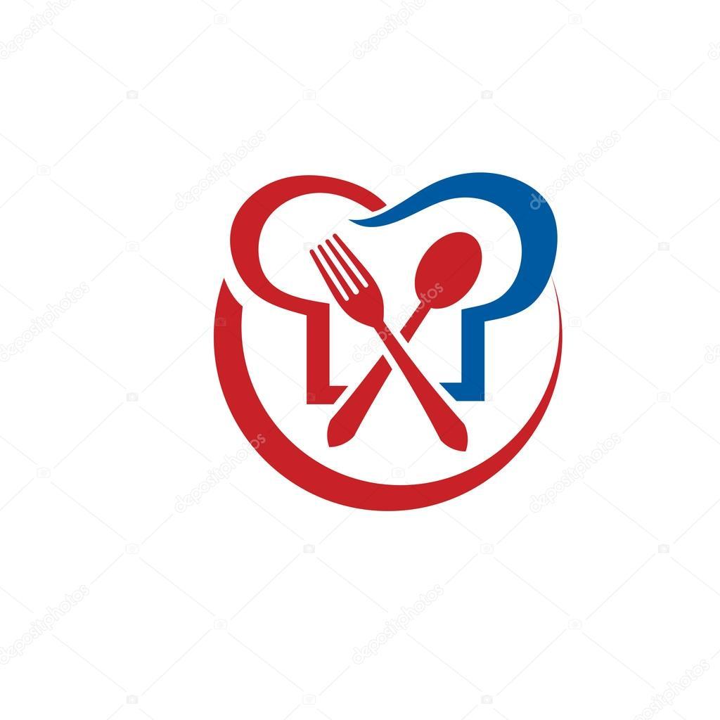 Kitchen Restaurant Chef Food Vector Logo Concept Illustration