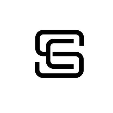 letter SE, SC logo concrpt