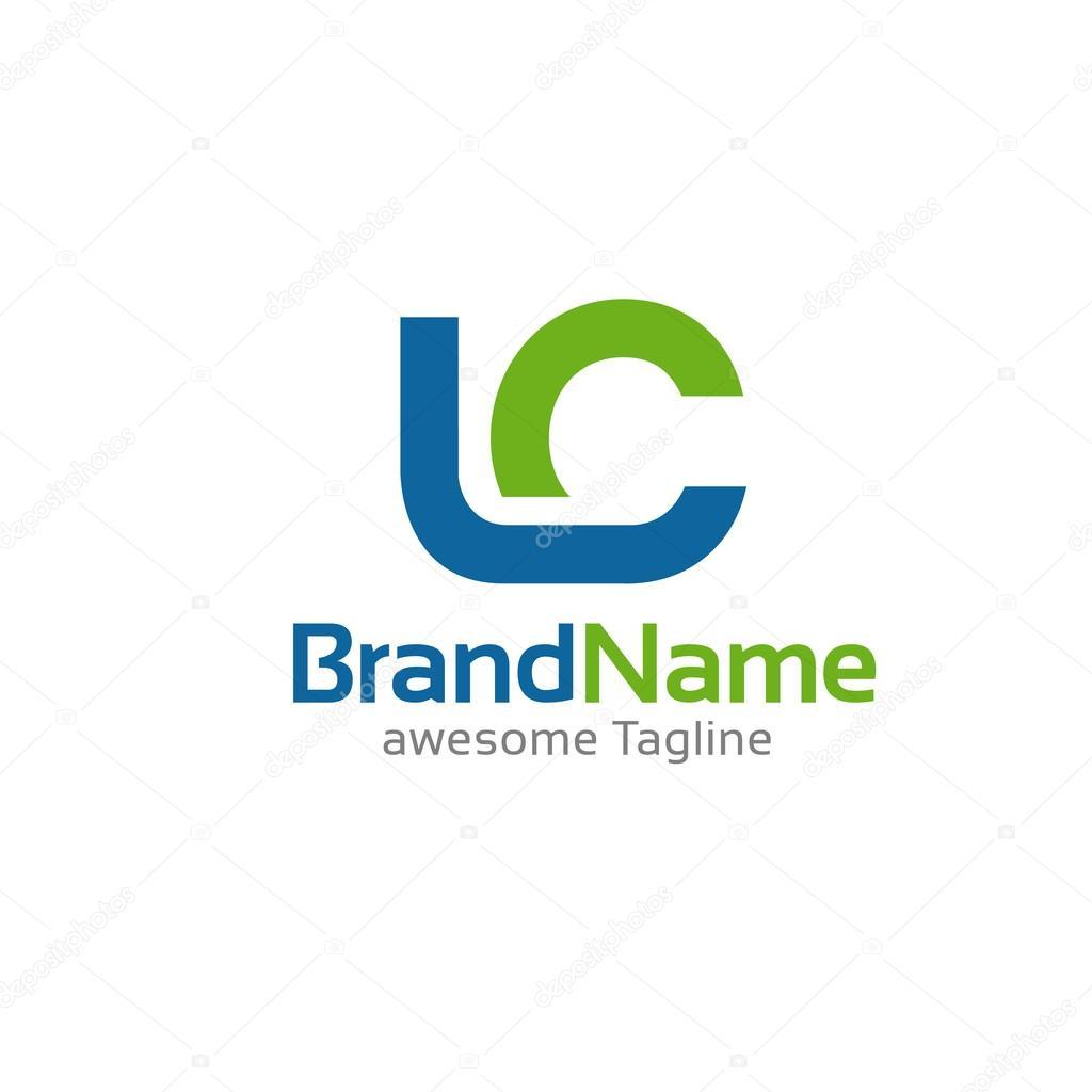 手紙 lc ロゴのコンセプト ストックベクター krustovin 117993696