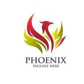 elegáns phoenix embléma koncepció