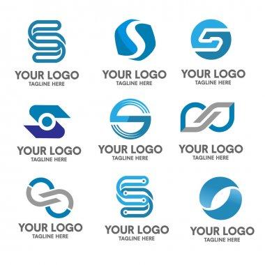 Letter s logo set