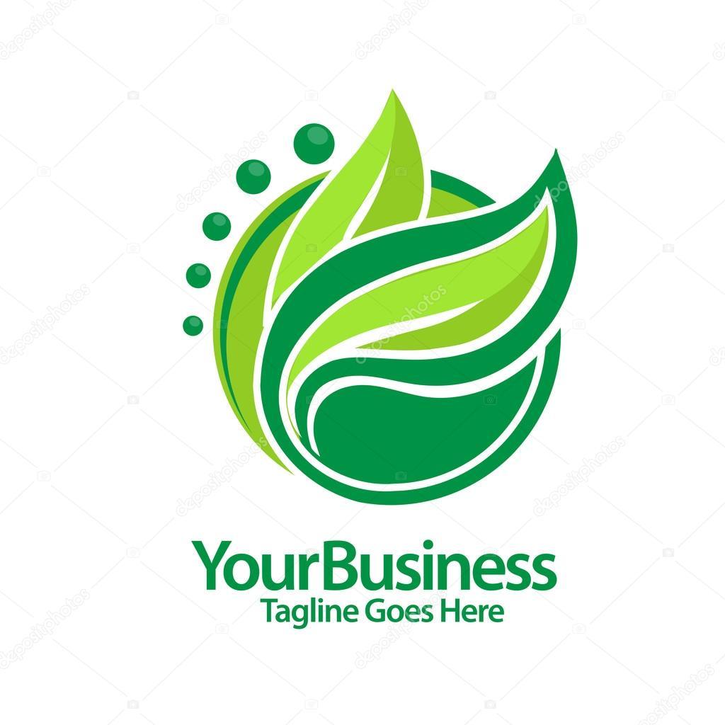 fgreen leaf  logo vector