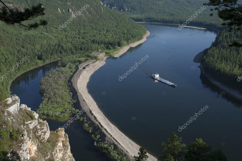 The Lena River.