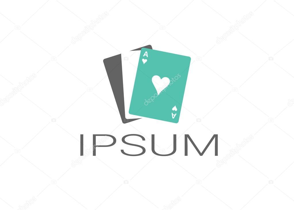 Kasino-Logo-Vorlage. Einfach Farben ändern — Stockvektor © JSusannah ...