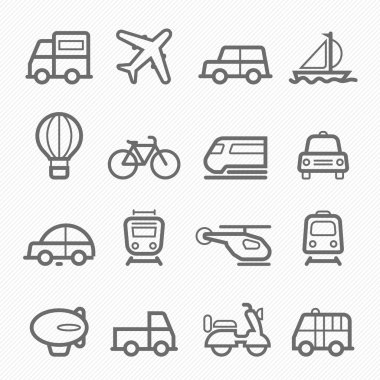 transportation symbol line icon on white background vector illustration