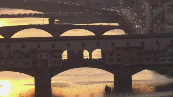 Ultra Hd 4k, úžasný západ slunce pohled na Florencii, Itálie, Evropa