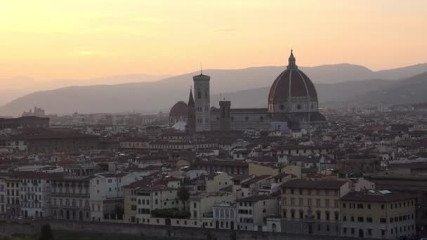 ULTRA HD 4K, Amazing Sunset view of Florence, Italy, Europe