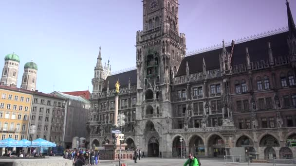 München, Deutschland: das historische Rathaus am marienplatz in der mitte der stadt in münchen.echtzeit, ultra hd 4k