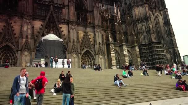 Köln: Der Kölner Dom. Der Kölner Dom ist eine berühmte mittelalterliche Kirche. Ultra Hd 4k, Echtzeit