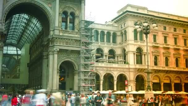 MILAN, ITALY : Unique view of Galleria Vittorio Emanuele II in Milan . Built in 1875 this gallery is one of the most popular shopping areas in Milan.