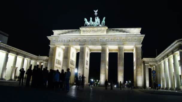 das brandenburger tor, hauptattraktion in berlin, zeitraffer, 4k