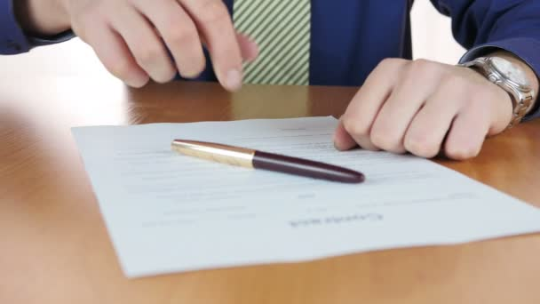 Businessman Signing Business Contract
